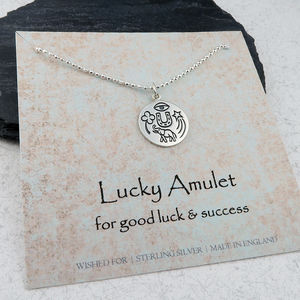 Lucky Amulet Necklace In Sterling Silver