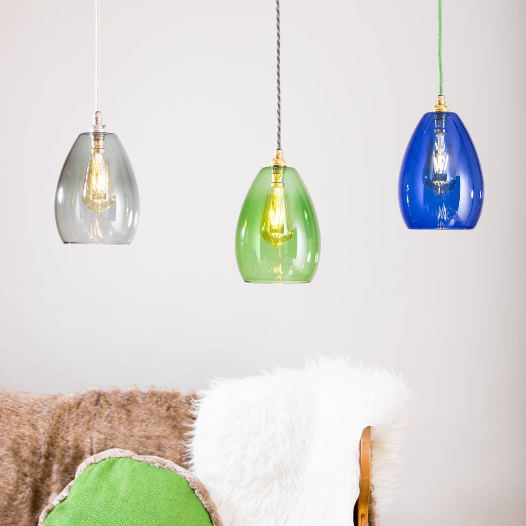 Bertie mid coloured glass pendant light by glow lighting bertie mid coloured glass pendant light mozeypictures Choice Image