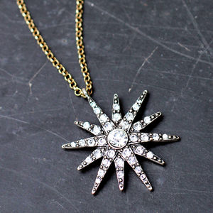 Vintage Style Star Necklace - necklaces & pendants