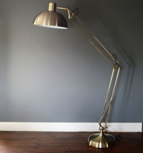 Brushed Gold Floor Lamp - furnishings & fittings