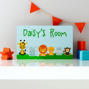 Jungle Animals Personalised Door Sign - signs