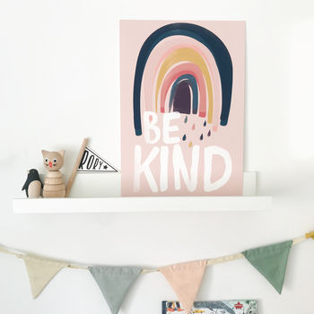 Be Kind Rainbow Children's Nursery Print