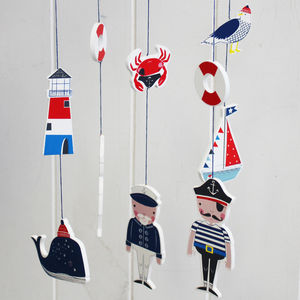 Wooden Nautical Sea Mobile - baby's room