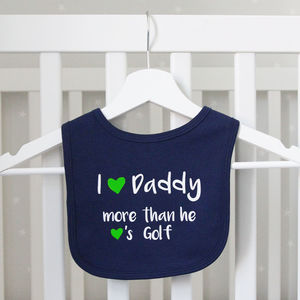 Daddy Loves Golf Baby Bib - baby care