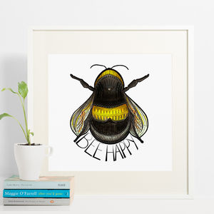 Bee Happy Print - children's pictures & paintings