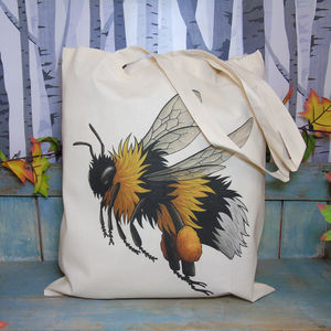 Bumble Bee Illustration Eco Tote Bag