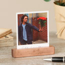 Personalised Weighted Copper Photo Block