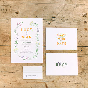 Herb Garden Wedding Stationery Collection