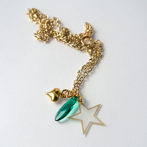 Star And Heart Charm Necklace - necklaces & pendants