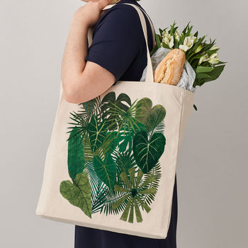 Botanical Plant Canvas Tote Bag