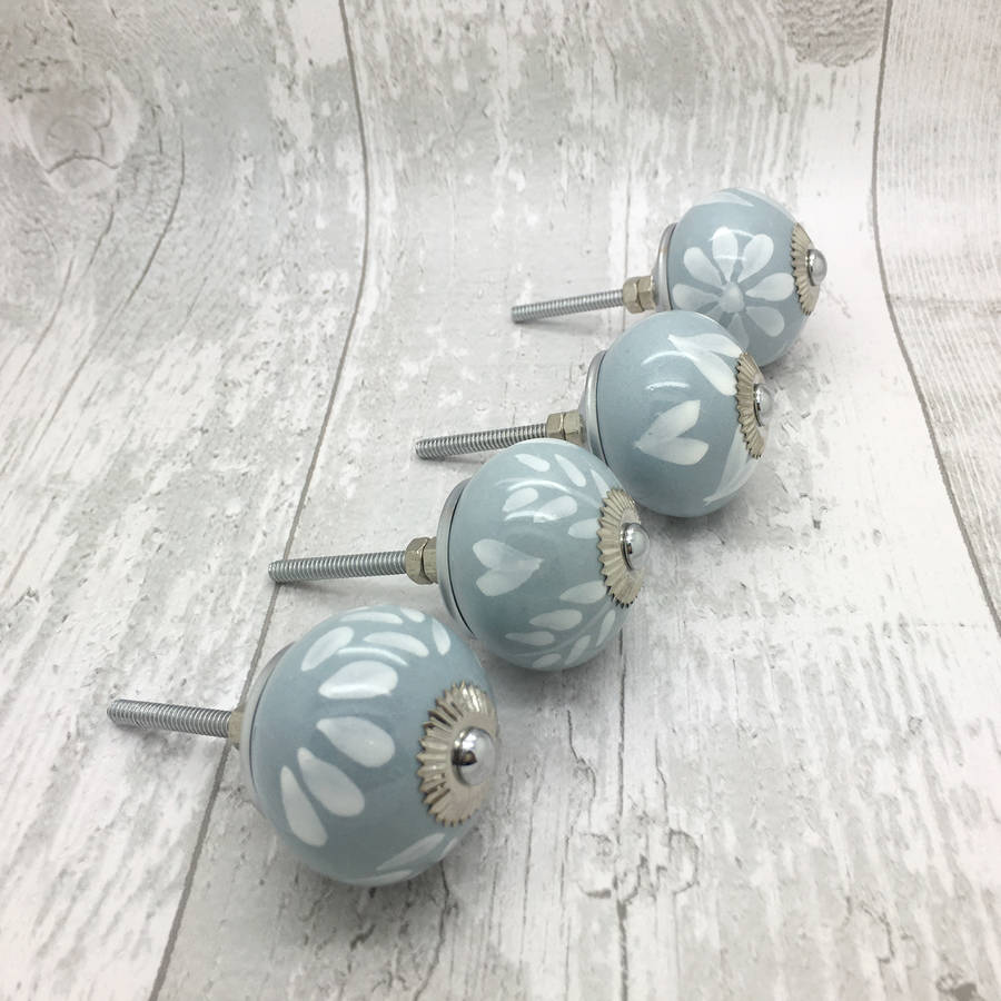grey fusion ceramic door knobs cupboard door handles by g decor ...