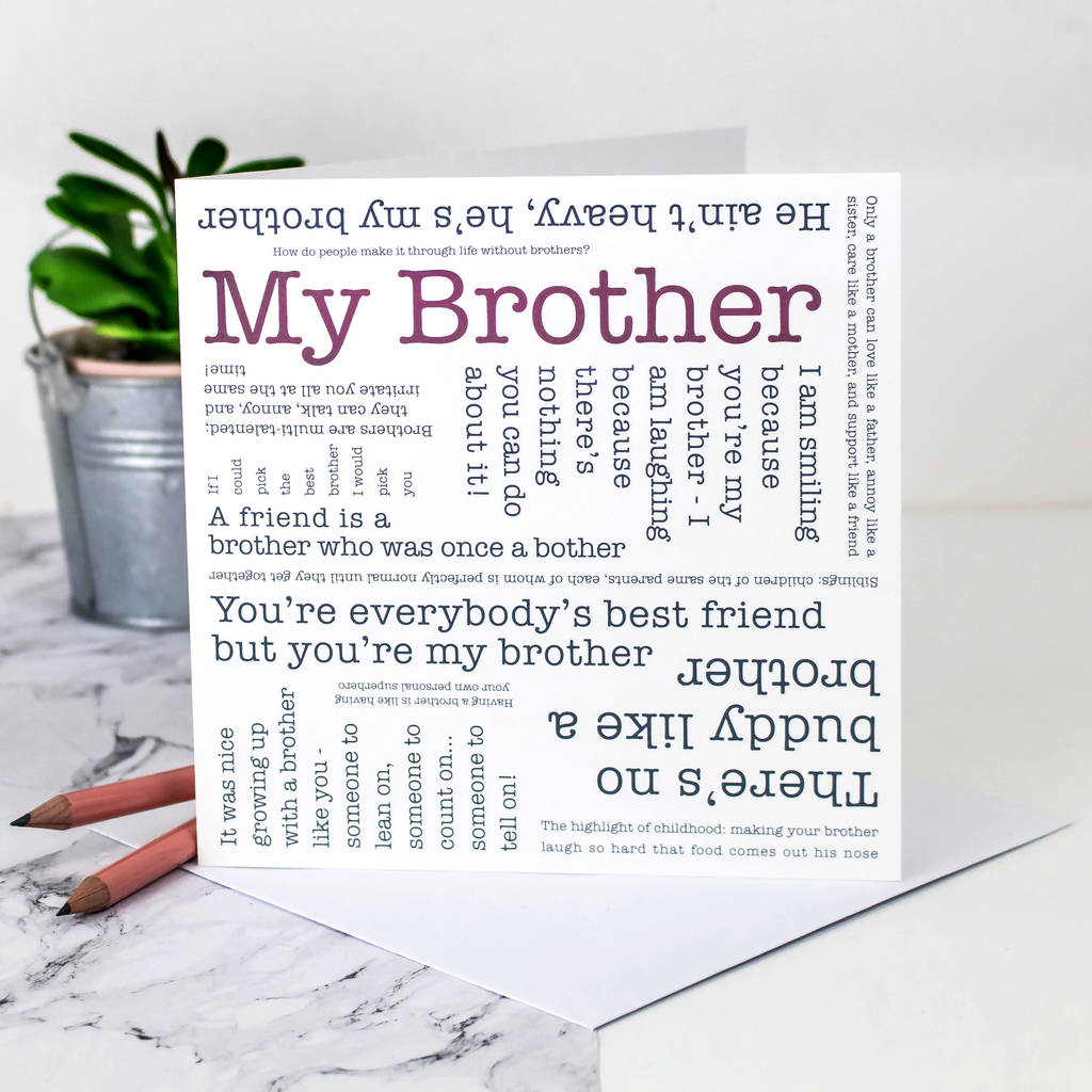Brother Card 'My Brother' Quotes