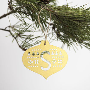 Metallic Initial Christmas Decoration