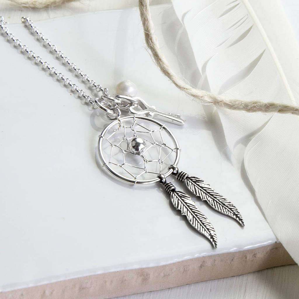 dream dreamcatcher accessories silver coldwater and large jewelry home catcher necklace creek
