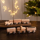 Personalised First Christmas Wooden Train Set