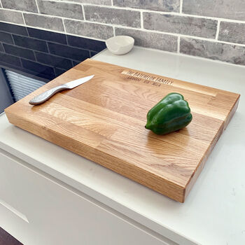 Family Name Large Butchers Block Chopping Board