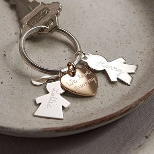 Personalised Person Keyring - fashionista gifts