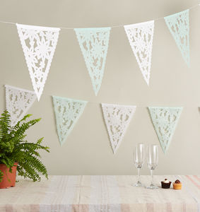 Lace Wedding Bunting From Mexico - outdoor decorations