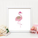 Pink Flamingo Wall Print