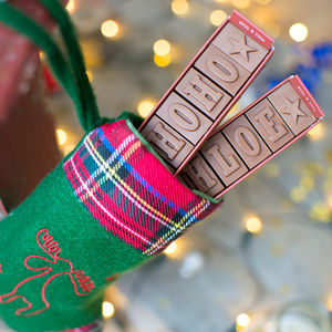 Personalised Chocolate Stocking Filler - christmas entertaining