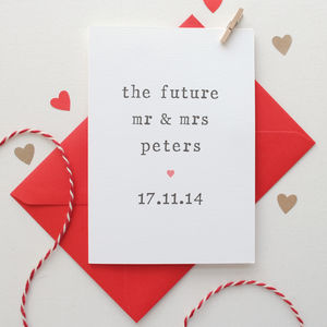 Personalised 'The Future' Engagement Card - shop by category