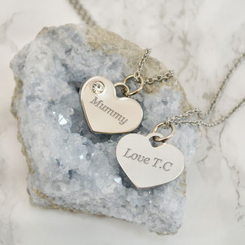 Personalised Heart Necklace For Mum