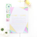 Rainbow Geometric Evening Wedding Invitation