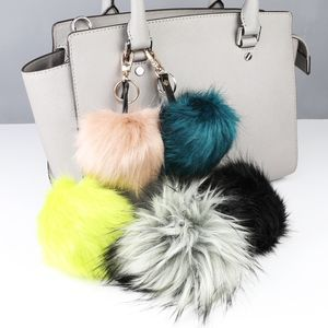 Faux Fur Pom Pom Keyring - winter sale