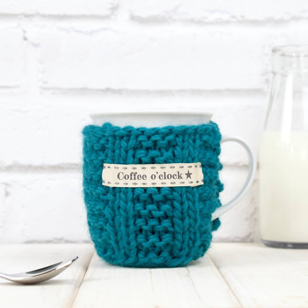 Personalised Knitted Mug Cosy
