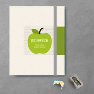 Personalised Thank You Teacher Notebook