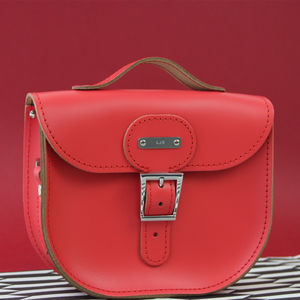 Personalised Small Leather Satchel - leather bags & accessories