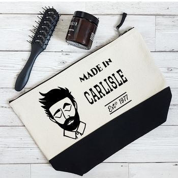 Personalised Dapper Dude Men's Washbag