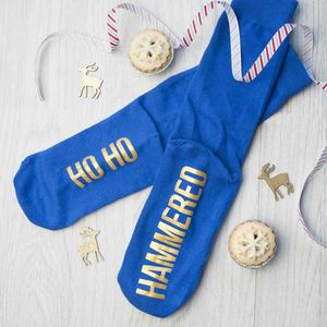 Personalised Ho Ho Christmas Socks - underwear & socks