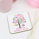 Personalised 'Reserved For' Grandma Coaster