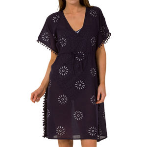 Aspiga Saskia Cotton Kaftan Navy And White - kaftans & cover-ups