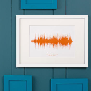 Personalised Sound Wave Gift