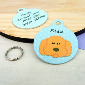 Labradoodle/ Cockapoo/ Bichon Frise Dog ID Tag - pet tags & charms