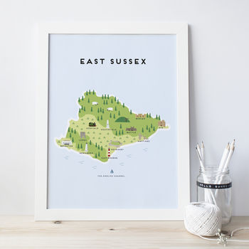 Map Of East Sussex Print