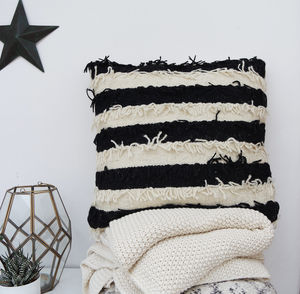 Fringed Boho Cushion