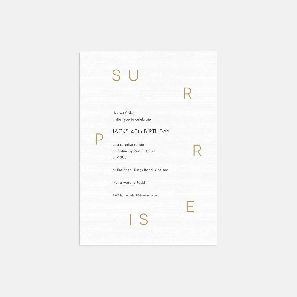 modern type birthday party invitations by lola s paperie