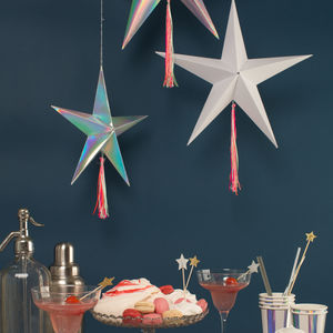 Set Of Three Star Decorations - tree toppers