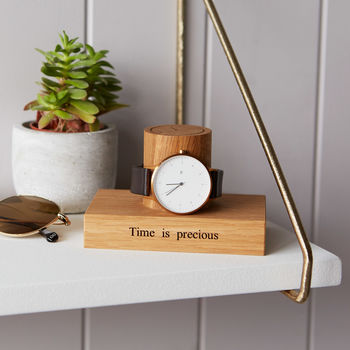 Personalised Watch Stand Gift For Grandad