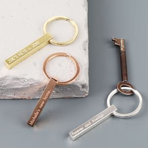 Personalised Shiny Bar Keyring - winter sale