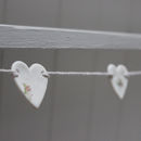 Mini Porcelain Floral Heart Bunting