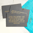Gold Foiled Gift Card