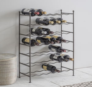 Farringdon Wine Rack In Steel - wine racks & storage