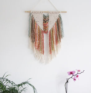 Rainbow Macrame Wall Hanging