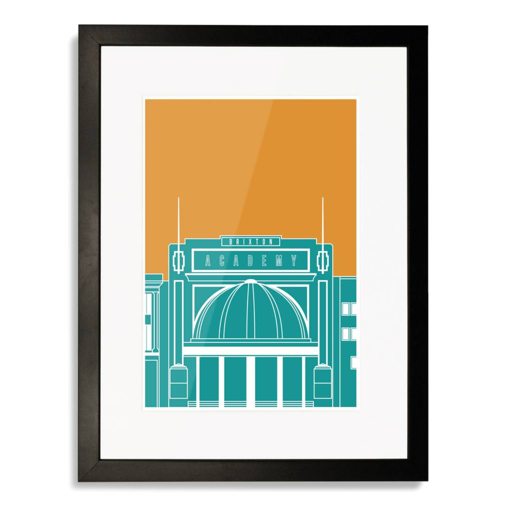 Brixton academy blueprint art print by place in print brixton academy blueprint art print malvernweather Images