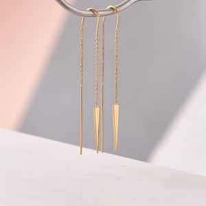 Adorable Arrow Chain Earrings - contemporary jewellery