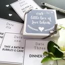 Date Night / Lovers Tokens Box